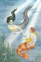 Mermaid and Merrow by erinclaireb