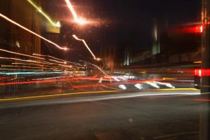 Traffic at Night by Clangston