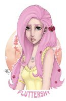 My Little Pony Character Design: Fluttershy Colo by Ayaka-Itoe