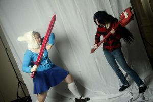 Adventure Time - Lady Fight Time! by NeonInWonderland