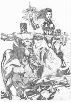 Wolverine and The X-men by JeanSinclairArts