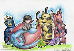 Dylan's Pokemon team by mmishee