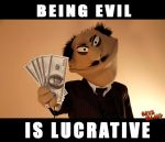 Being Evil is Lucrative, Mobster Puppet by Rats-Island