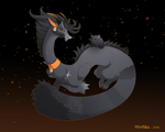 Dragon-A-Day 203 .Black Cat. by Mythka