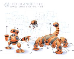 Robots in Cyberspace by leoblanchette