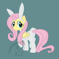 Fluttershy as Angel by sterlingsilver