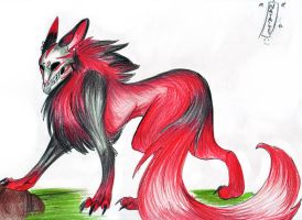 Demon wolf by PsychoNinjaNatalie