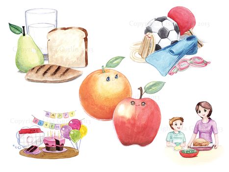 Healthy Habits Made Easy Brochure Illustrations by Kuroikii