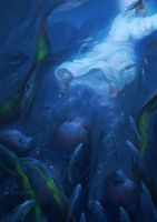 Song of the Sea-Saoirse and the seals by nozomi-M