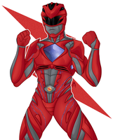 Red Ranger / Power Rangers by arts-grant