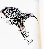 Humming Bird Tattoo Design by mindsetteler