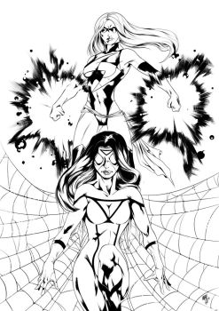 Ms Marvel / Spider Woman by Moy-R