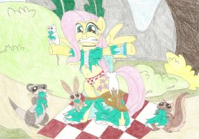 Request - Fluttershy: Attack of the Critters by wjmmovieman
