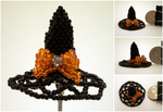 Halloween Mini Bead Witch Hat by pinkythepink