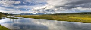 Yellowstone River Valley by luc1ddr3am