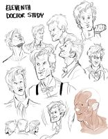 Eleventh Doctor Study by ohmygiddyaunt