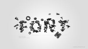 Three font rules - wallpaper by MichalNowak