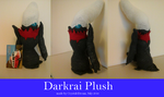 Darkrai plushie number 2 by Crystal-Dream