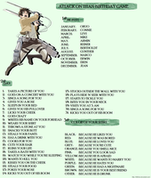 Attack On Titan Birthday Game by FluffyMe
