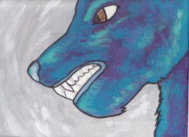 Impressionist's Wolf by TheHellPuppi