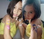 Check out my guns: the Princess and the Popstar by emummy