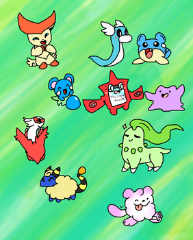 pokemon doodles by thisisspartacat1230