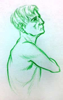 Figure Drawing 2010 Quick Bust by rymagnusson
