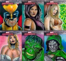 Marvel Masterpieces 3 AP Set by RandySiplon