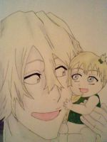Kisuke and his daughter by Yatorima