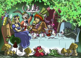 Alice in Wonderland by RUNNINGWOLF-MIRARI