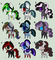 .:[ADOPTABLES!CLOSED!]CREEPYPONYTHEMED:. by Maniactheleader