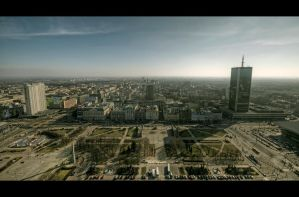 Warsaw Panorama by Beezqp