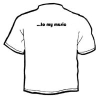listen to my music shirt back by BenTara