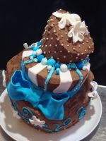 b-day cake for little sis 2 by B-Reka
