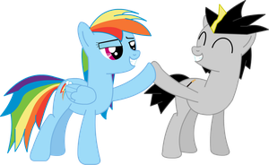 Strat and Rainbow Dash by Stratolicious