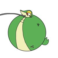 Snivy Inflation - Birthday Request by Boman100
