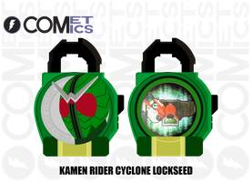 Fan Lock : Kamen Rider Cyclone Lockseed by CometComics