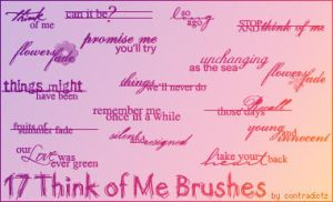 """Think of Me"" Brushes by contradictz"