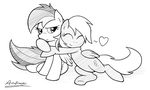 Rainbow and Derpy by Ambris