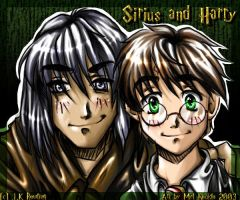 Harry Potter and Sirius Black by luniara