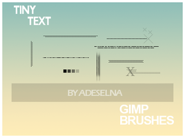 Tiny text brushes by Kowaresou