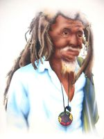 Old Jamaican Man by grace2design
