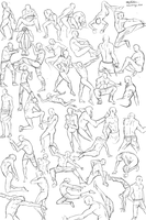 50 male poses by Calvariae