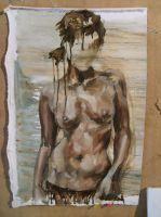 Faceless Nude I by noratroll