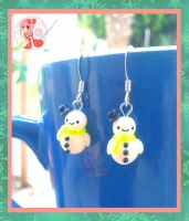 Winter Snowmen Earrings by Octopop-n-Aicing