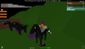 Roblox Camp Half-Blood training to ride pegasus