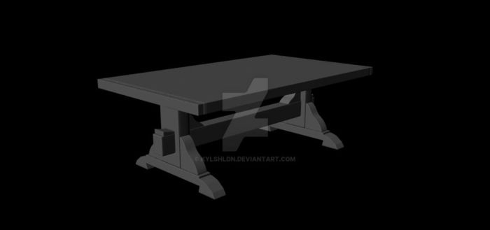 Medieval Table by kylshldn