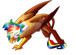 Commission - Rainbow Feather by FuyusFox