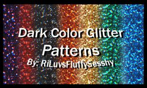 Dark Color Glitter Patterns by RiLuvsFluffySesshy