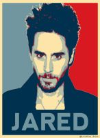 Jared Leto  blue + red by lovelives4ever